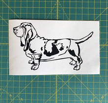 Load image into Gallery viewer, basset hound dog car decal