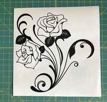 Load image into Gallery viewer, Rose Floral Decal Custom Vinyl car truck window laptop sticker