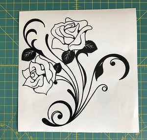 Rose Floral Decal Custom Vinyl car truck window laptop sticker