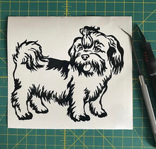 Load image into Gallery viewer, Lhasa Apso Dog Decal Custom Vinyl car truck window sticker