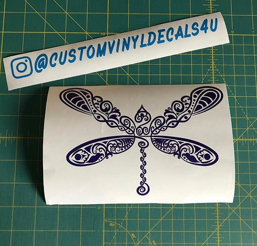 intricate dragonfly decal car truck window sticker