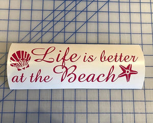 life is better at the beach decal car truck window sticker