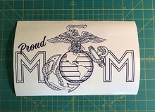 Load image into Gallery viewer, proud mom usmc car window decal