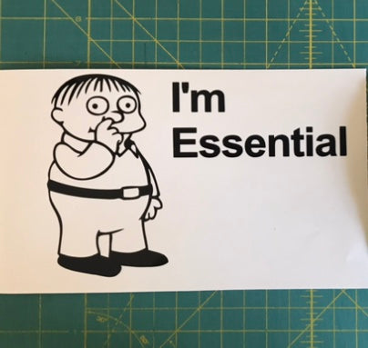 I'm Essential Ralph Wiggums Simpsons Decal