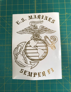 USMC EGA Semper Fi Car truck window decal