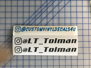instagram name tag decals