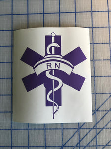 rn lpn symbol decal car truck window laptop sticker
