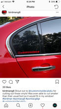 Load image into Gallery viewer, custom instagram name tag decal