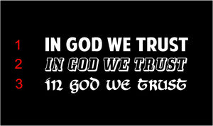 in god we trust car decal