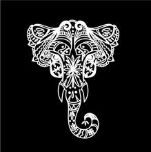 Load image into Gallery viewer, Intricate Elephant Decal Custom Vinyl car truck window laptop sticker