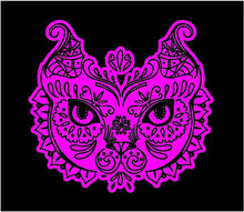 Load image into Gallery viewer, Fancy Cat Head Decal Custom Vinyl car truck window sticker Intricate