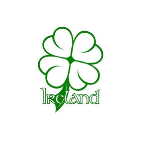 ireland four leaf clover decal car truck window irish sticker