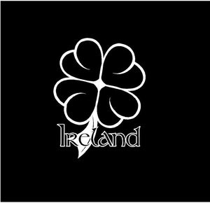 Ireland Clover Decal Custom Vinyl Irish Heritage car truck window laptop sticker