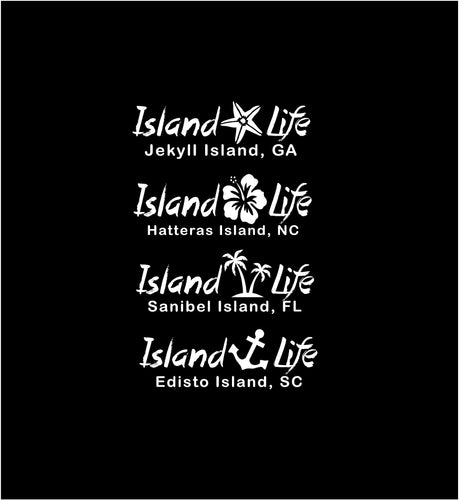 island life decal car truck window customizable tropical sticker