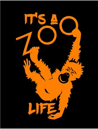 Its a zoo life decal custom vinyl car truck window sticker