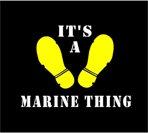 its a marine thing car decal