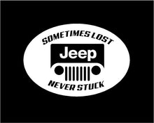 Load image into Gallery viewer, jeep sometimes lost never stuck decal jeep sticker