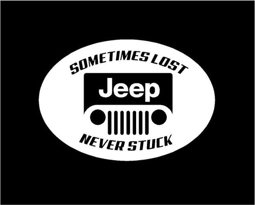 jeep sometimes lost never stuck decal jeep sticker