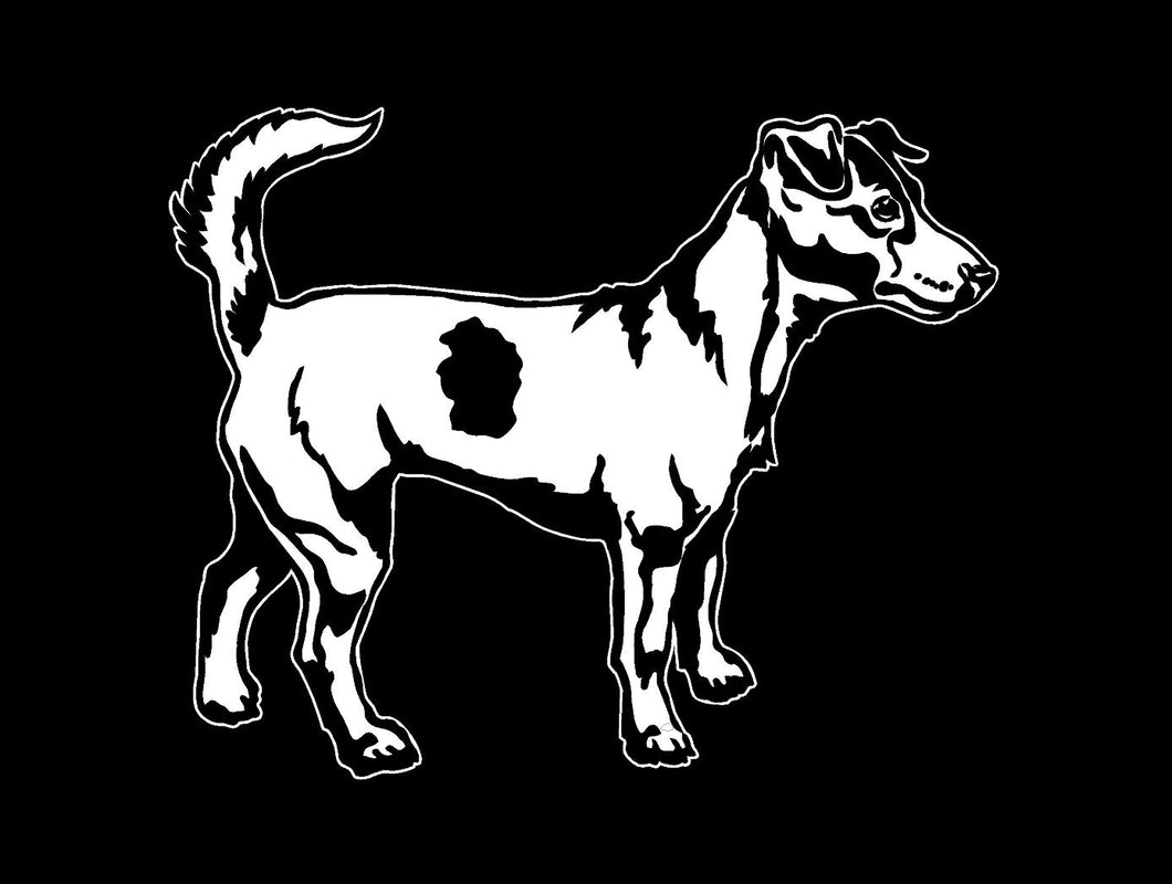 Jack Russell dog decal car truck window sticker