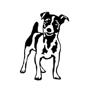 jack russell puppy decal