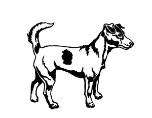 jack russell dog sticker