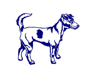 jack russell dog breed car decal
