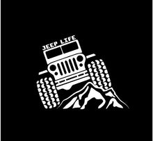 Load image into Gallery viewer, jeep life  decal car truck window jeep sticker
