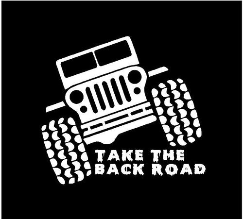jeep take the back road decal jeep sticker