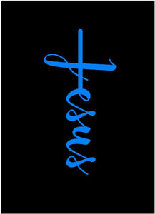 Jesus Cross Religious decal car truck window religion bumper sticker
