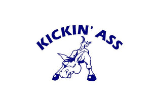 Kickin Ass Donkey Mule Decal Custom Vinyl Car Truck Window Sticker