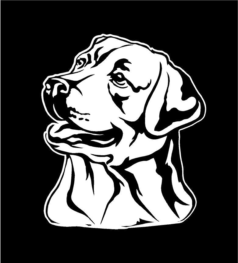 labrador retriever dog decal car truck window sticker