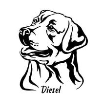 Load image into Gallery viewer, Labrador Retriever Dog Decal Custom Vinyl car truck window lab sticker