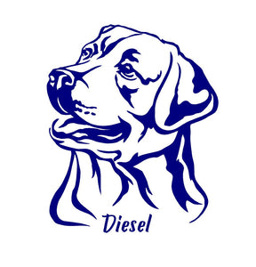 Labrador Retriever Dog Decal Custom Vinyl car truck window lab sticker