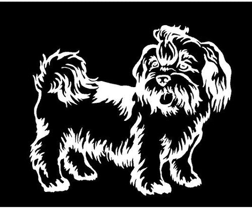 lhasa apso dog decal car truck window dog sticker