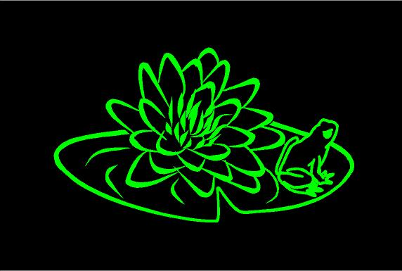 lily pad frog decal car truck window sticker