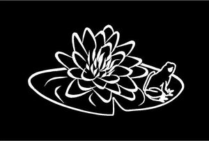 Lily Pad Frog Decal Custom Vinyl Laptop Mailbox Car Truck Window Sticker