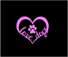Load image into Gallery viewer, Dog Paw Print Love Heart Decal Custom Vinyl Car Truck Window Laptop Sticker