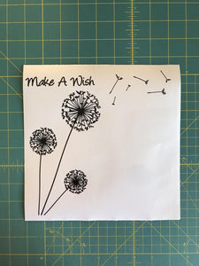 Dandelion Make a Wish Custom Vinyl Decal Laptop Sticker