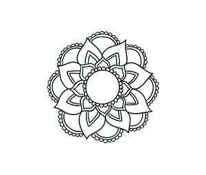 Mandala Decal Custom Boho Bohemian style vinyl Car window laptop sticker
