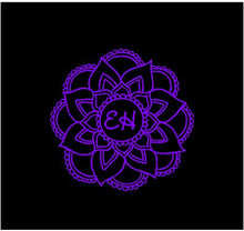 Load image into Gallery viewer, Mandala Initial Decal Custom Vinyl drink cup tumbler car truck window laptop sticker