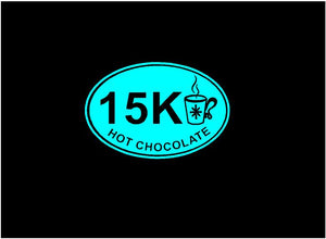 Marathon Decal Hot chocolate marathon 15K custom vinyl car truck window runners sticker