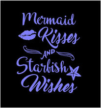 Load image into Gallery viewer, mermaid kisses and starfish wishes car decal
