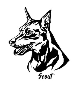 mini pinscher dog decal car truck window dog sticker