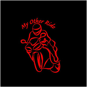My Other Ride Motorcycle Decal Custom Vinyl Car Truck Window Street Bike Sticker