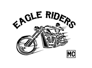 motorcycle club custom decal