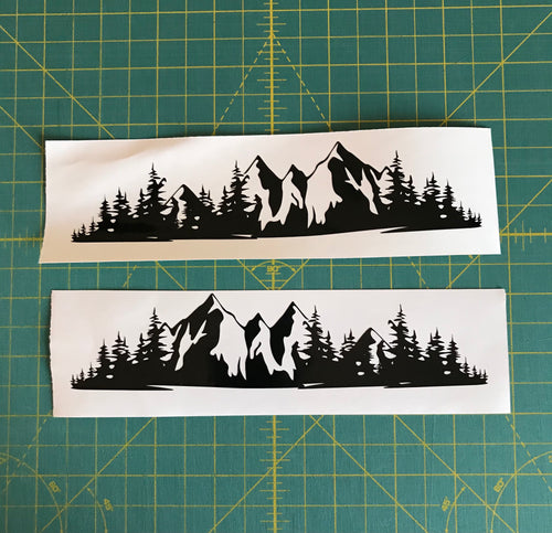 Mountain Range forest car truck badge decal