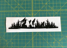 Load image into Gallery viewer, Mountain Range Forest Car Truck window badge decal