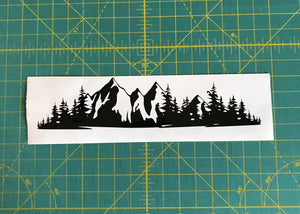 Mountain Range Forest Car Truck window badge decal