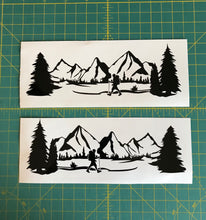Load image into Gallery viewer, Mountain Range Hiker hiking car truck decal