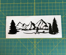 Load image into Gallery viewer, Mountain range hiker hiking car truck window decal